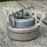 Outdoor Camping Picnic Tool Stainless Steel Alcohol Stove Cross Stand Stove Holder Rack Shelf
