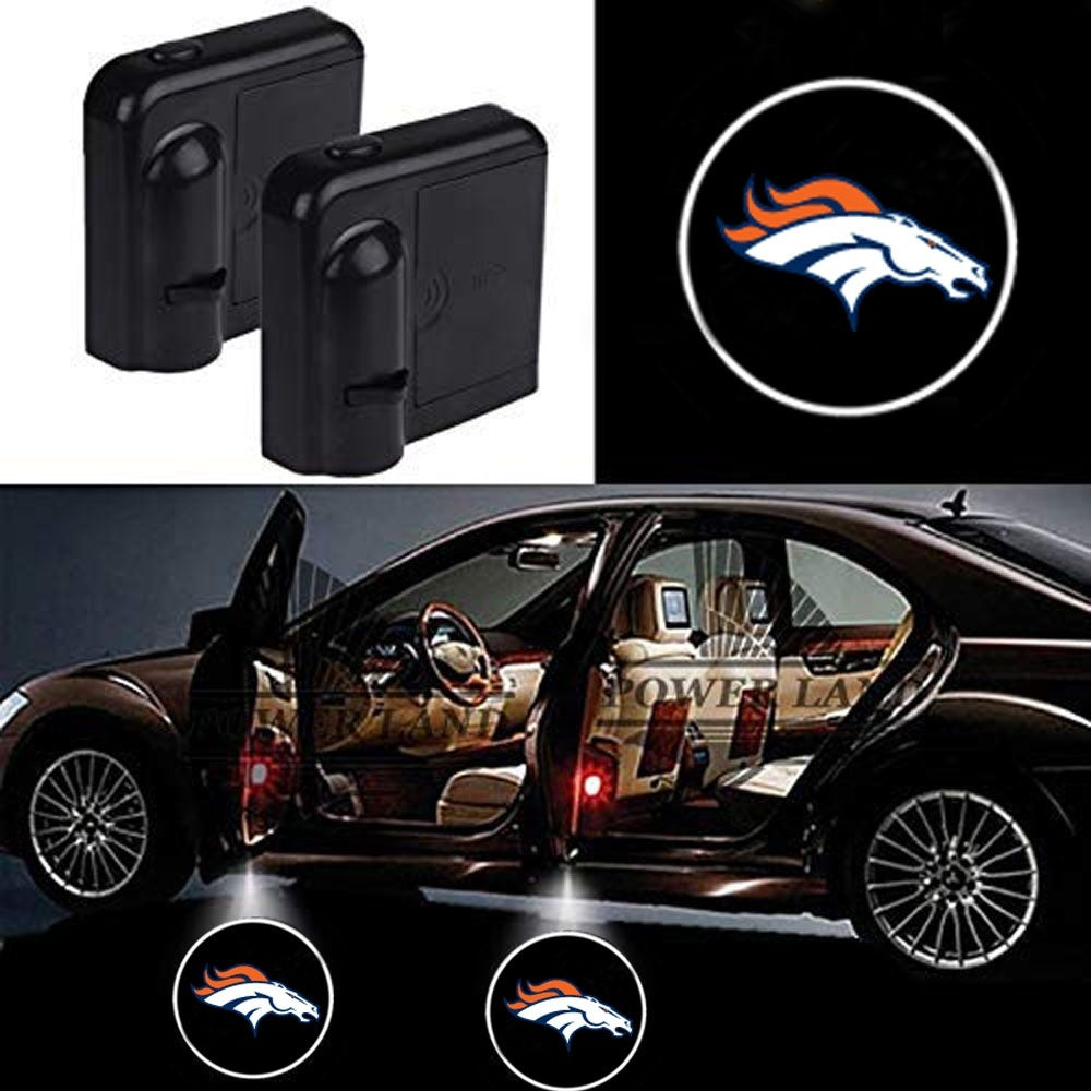 For NFL Dallas Cowboys Oakland Raiders New Orleans Saints New England Patriots Atlanta Falcons Car Door Led Welcome Laser Projector Car Door Courtesy Light Suitable for all vehicles.