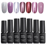 LILYCUTE 7ml Mirror Nail Polish Metallic Nail Gel Soak Off UV Gel Holographic Nail Art UV Gel Varnish