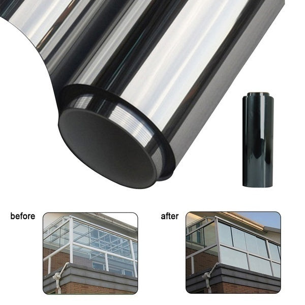 1/3/5M Mirror Silver 15% VLT Solar Reflective Window Film One Way Mirror Tint Roll Protect Privacy