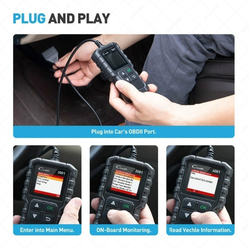 2019 Launch CR3001 OBD2 Auto Car Diagnostic Scanner Tool Car Automotive Erase/Reset Fault Codes Diagnostic Scanner