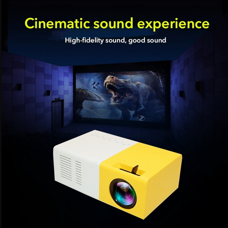 LED Portable Mini Projector Full HD 1080P Movie Projector for Children Present Video TV Movie Party Game Outdoor
