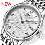 2019 New High Quality Men Quartz Watch Stainless Steel Band Watch Business Wrist Watches