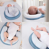 Infant Sleep Stereotypes Pillow Portable Folding Bed Cribs Anti Rollover Baby Flat Head Safety Positioning Pillow Newborn Travel Sleep Bed For 0-12 Months