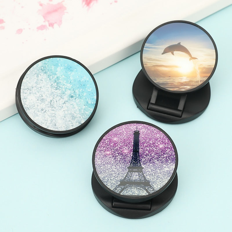 Love Unicorn Marble Expanding Phone Holder Universal Foldable Phone Stand Rack Holder Finger Ring Bracket
