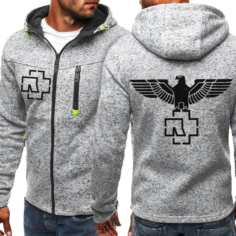 New Fashion Famous Band Printed Mens Womens Racing Zip-up Hoodie Motorcycles Team Hoodies Casual Zipper Sweatshirt Hooded