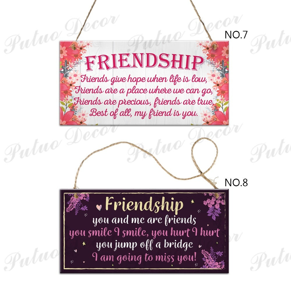 Friendship Wooden Plaques Best Friend Gifts Home House Decor 3.9'¡Á7.8'