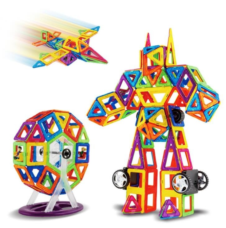 Magnetic Tiles Building Blocks Toys (55 PCS and 105 PCS)