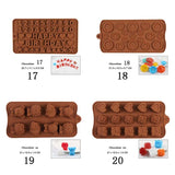 28 Style Chocolate Silicone Mold 3D Chocolate Baking Tool Non-stick Silicone Cake Mold Jelly and Candy DIY Mold