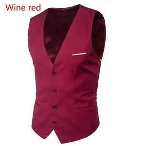 Men's fashion new suit Slim fit inside vest suit vest 6 colors