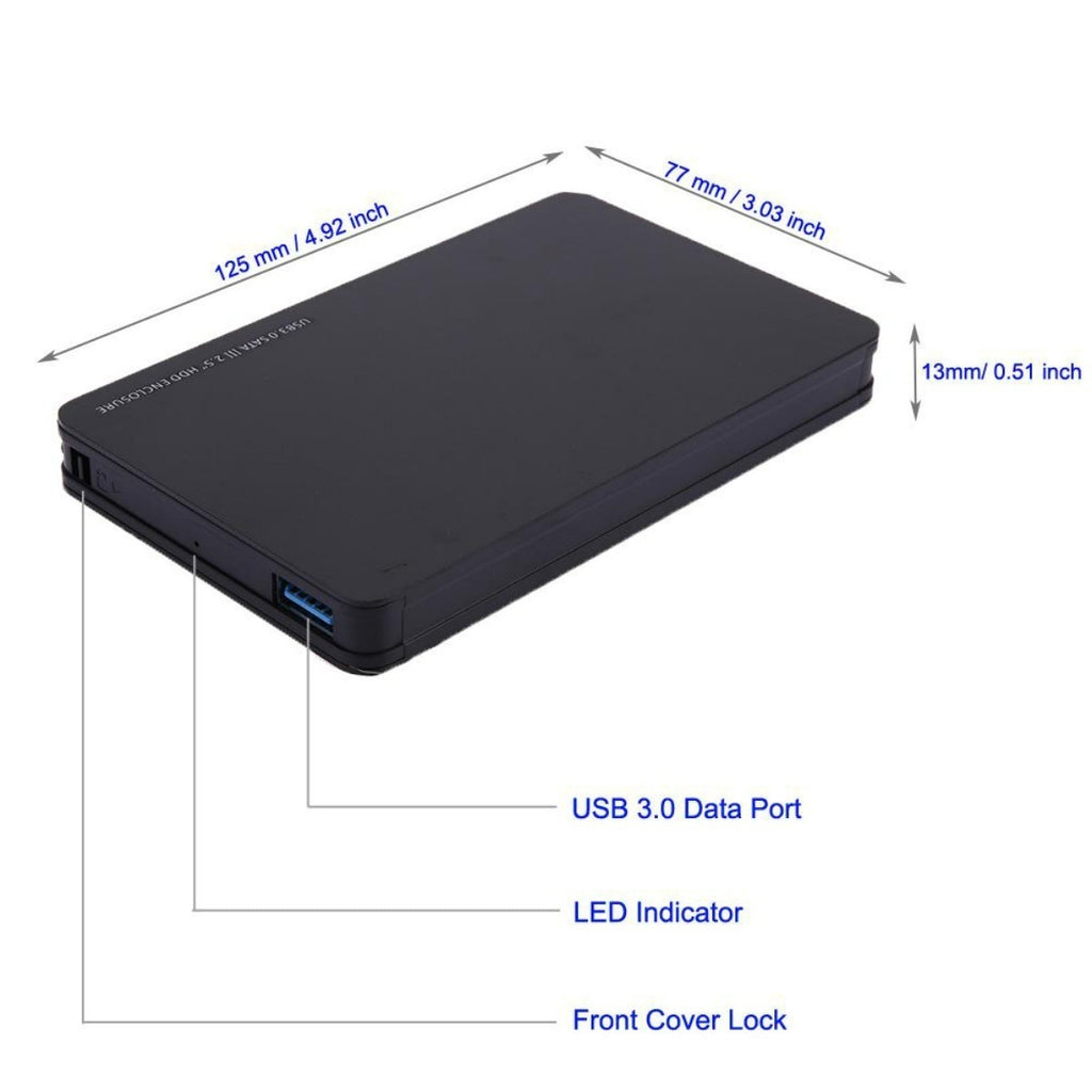 USB 3.0 Protable 4TB External Enclosure Hard Drive Case Mobile Hard Disk Case HDD SATA SSD 2.5""