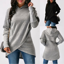 Load image into Gallery viewer, 2019 Autumn Winter Women Sweater Coat Long Sleeve Hooded Sweater Hoodies Lady Casual Hooded Sweatshirts
