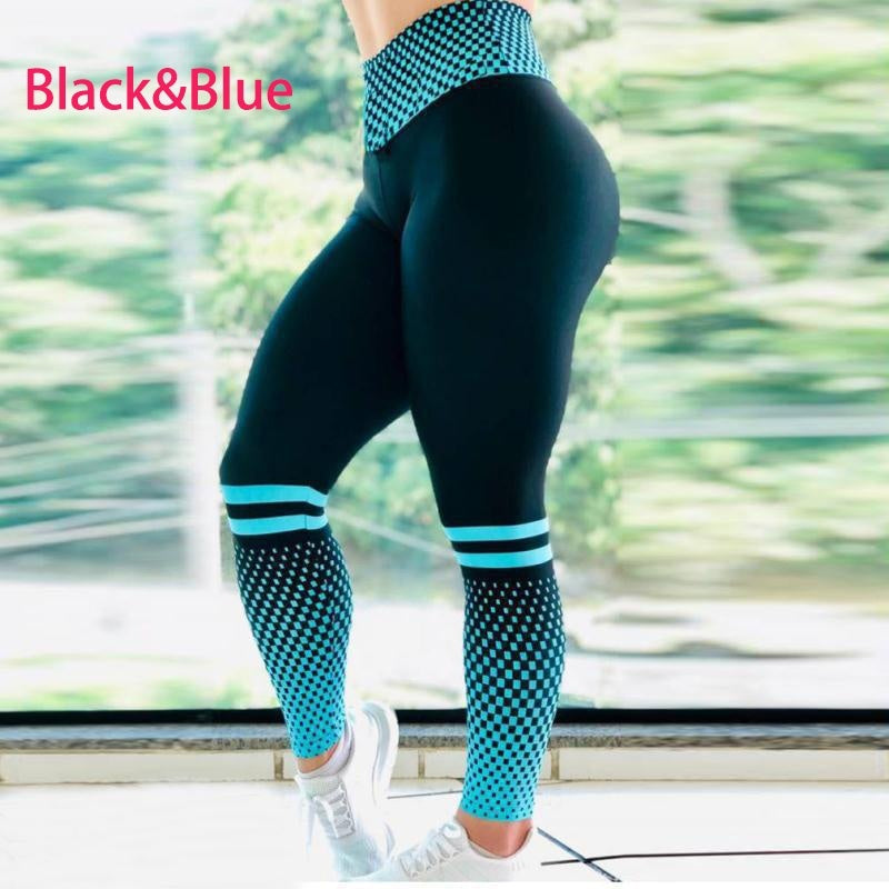 Women Fashion Super Stretchy Gym Tights Energy Seamless Tummy Control Yoga Pants High Waist Sport Leggings Running Pants