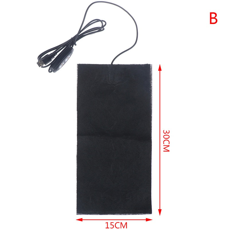 5V USB Electric Heating Pad 3 Gears Adjusted Temperature DIY Thermal Vest Jacket