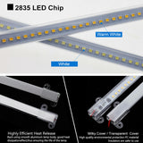 Ranpo 1X / 5X 30cm 40cm Under-Counter Light Fixtures High Quality Showcase Light Strip LED Rigid Strip 2835 SMD Floodlight Tubes Bar DIY Counter Showcase Shelf Window Display Lamp 220V