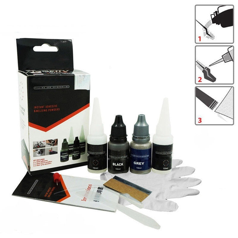 Strong Powder Adhesive Glue Kit Set 7 Second Quick Bonding Speedy Repair