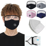 New Clear  PM2.5 With valve with Eyes Shield with Filters Cotton Mask Protective Face Mask