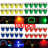 1/10/20/30/50/60/80/100pcs /pack T5 B8.5D 5050 LED 1 SMD Indicator Car Dashboard Side Interior Light Bulbs 12V