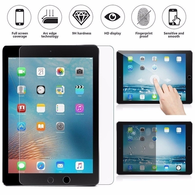 For IPad Screen Protector Anti-scratch 9H Tempered Glass for IPad 2 3 4 5 6 IPad 2017 2018 Air 2 9.7'' Mini 2 Mini 3 Mini 4 Mini 5 7.9'' Glass Protector for IPad Pro 10.5'' Pro 9.7''Pro 12.9'' Film Verre Trempé