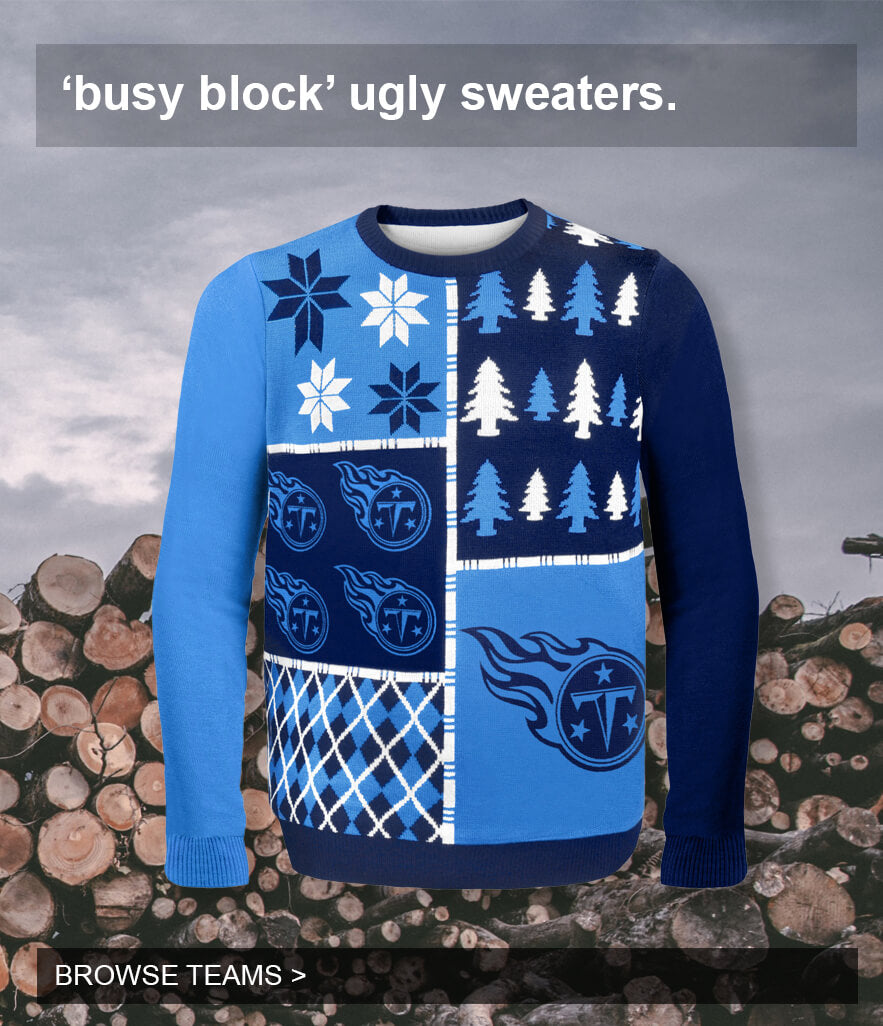 Busy Block Ugly Sweaters