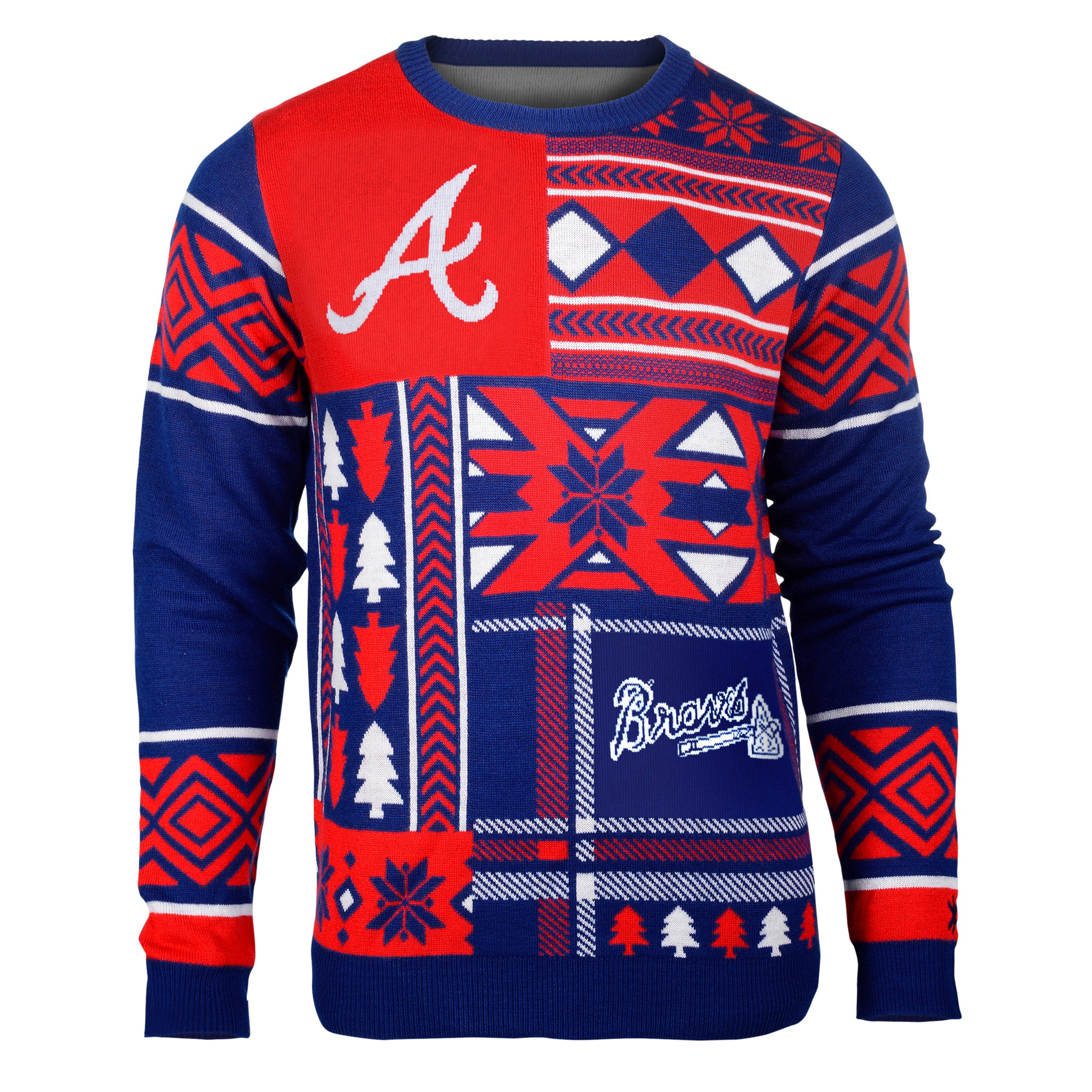 Ohio State Patches Ugly Crew Neck Sweater - UglyTeams