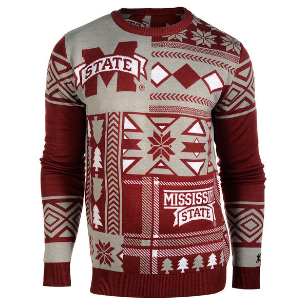 Ugly Christmas Sweater - pullover crew neck Christmas patches.