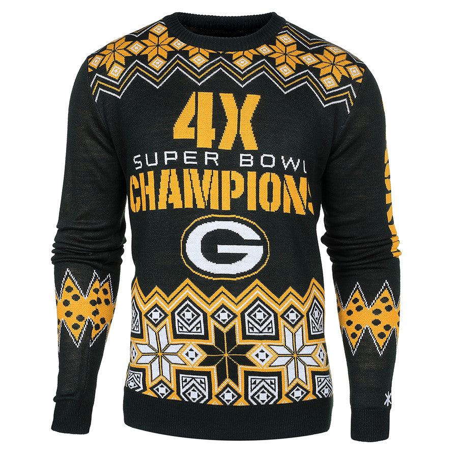 7161246170d Green Bay Packers Super Bowl Commemorative Crew Neck Sweater - UglyTeams