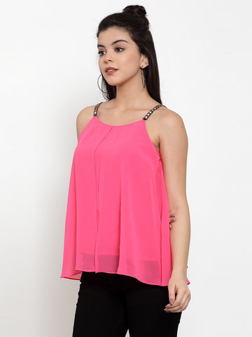 Aujjessa Pink Straped Top