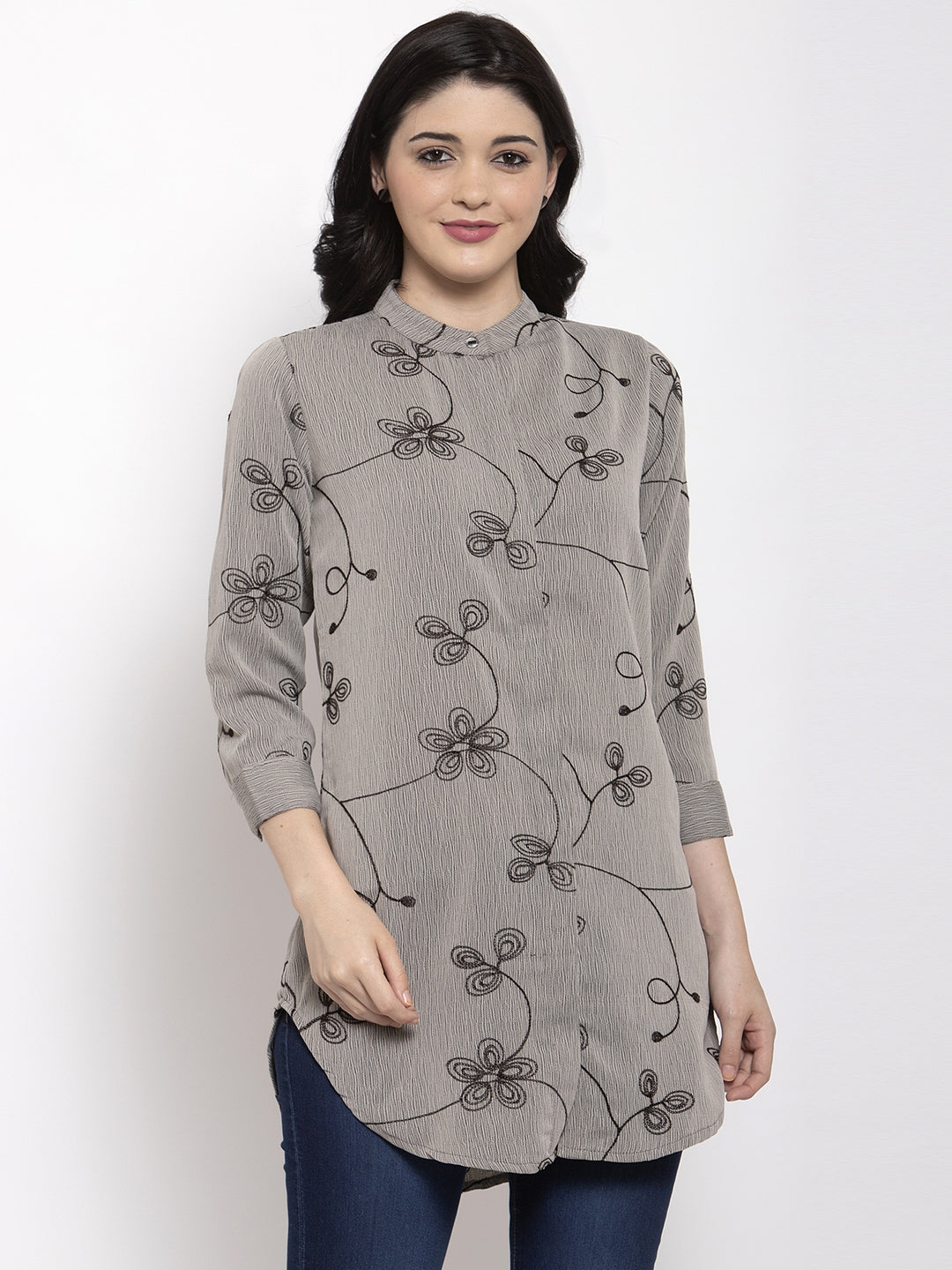 Aujjessa Milange Embroidered Top