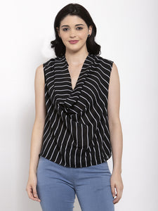 Aujjessa Black Printed Top