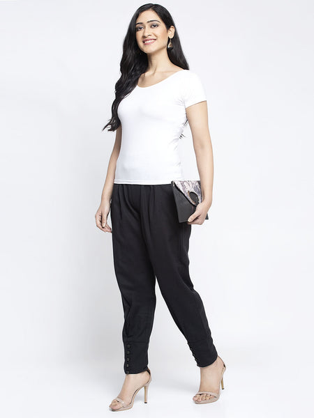 Aujjessa Black Cotton Jodhpuris Trousers