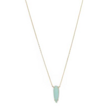 Load image into Gallery viewer, Green Glass Drop Necklace