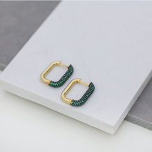 Load image into Gallery viewer, Lola Earrings - Emerald