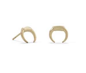 Load image into Gallery viewer, Crescent Stud Earrings
