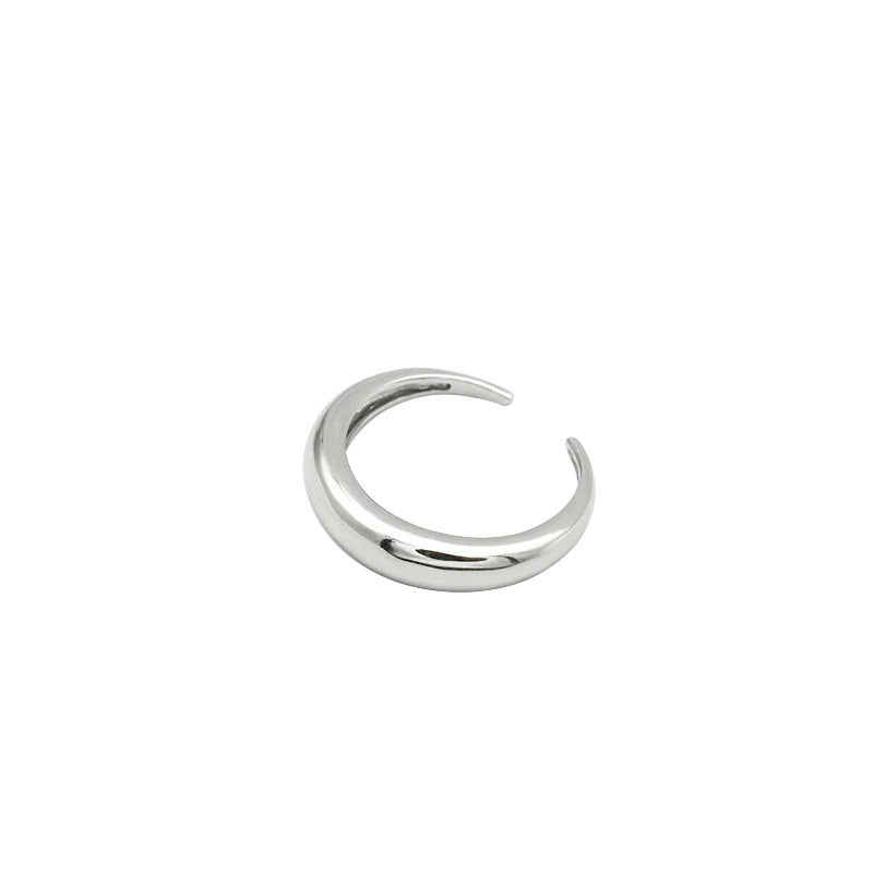 Curved Band Ring - Silver