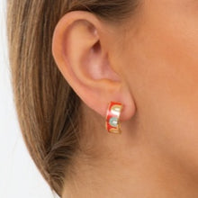 Load image into Gallery viewer, Yula Enamel Earrings - Red