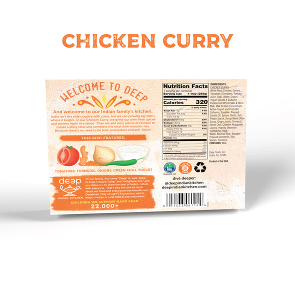 Chicken Curry with Turmeric Rice (12 count)