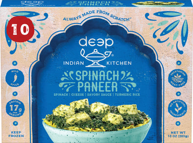 Spinach Paneer with Turmeric Rice (10 count)