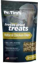 Load image into Gallery viewer, Dr. Tim's Freeze Dried Natural Chicken Chips Dog and Cat Treats