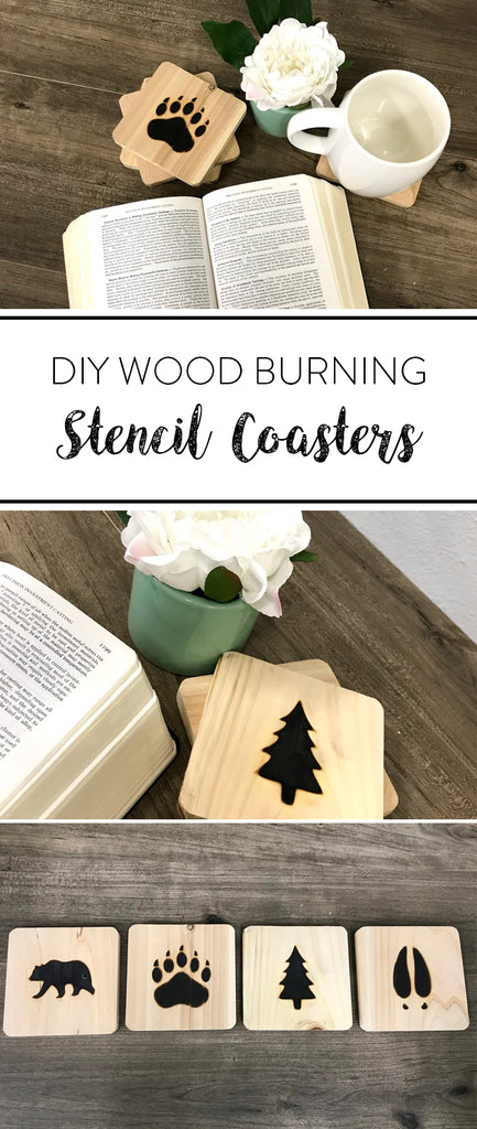 Diy Wood Burning Stencil Coasters Lumberjack Tools