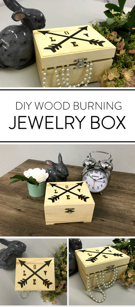 Diy Wood Burning Stencil Jewelry Box Lumberjack Tools