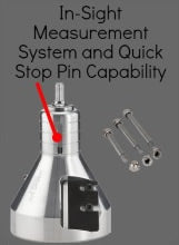 In-Sight Measurement System and Quick Stop Pin Capability