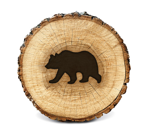 Wood BurnStencil™ - Bear (Side Profile)