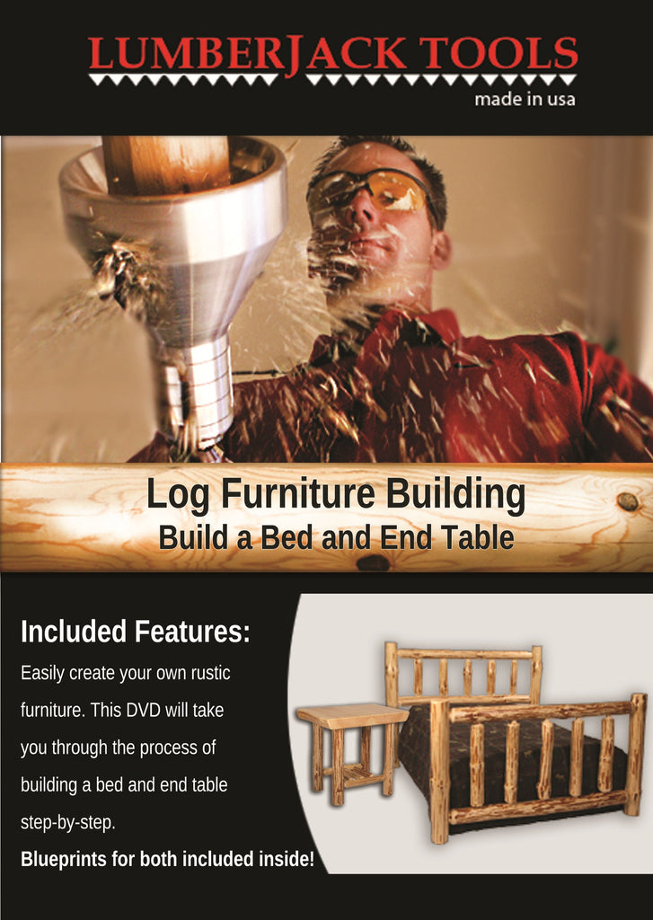 Log Furniture Building   Build A Bed And End Table
