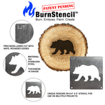 BurnStencil™ - Northwoods 3 Pack