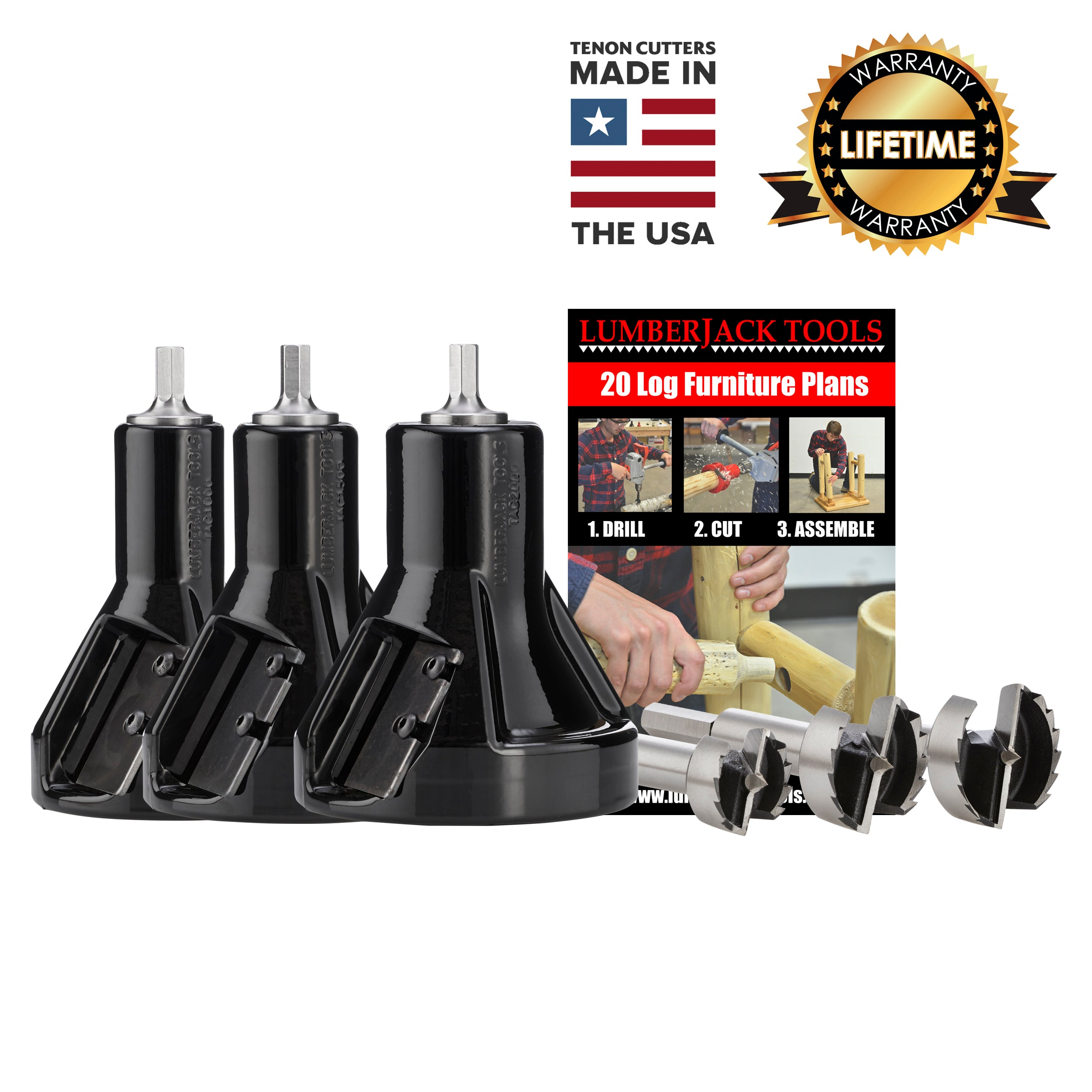 Commercial Series Master tenon cutter kit- USA Made Tenon Cutters