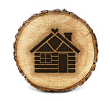 Wood Burning Stencil - Log Cabin