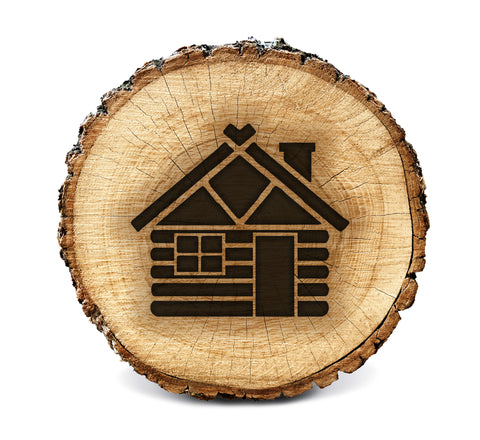 Wood BurnStencil™ - Log Cabin