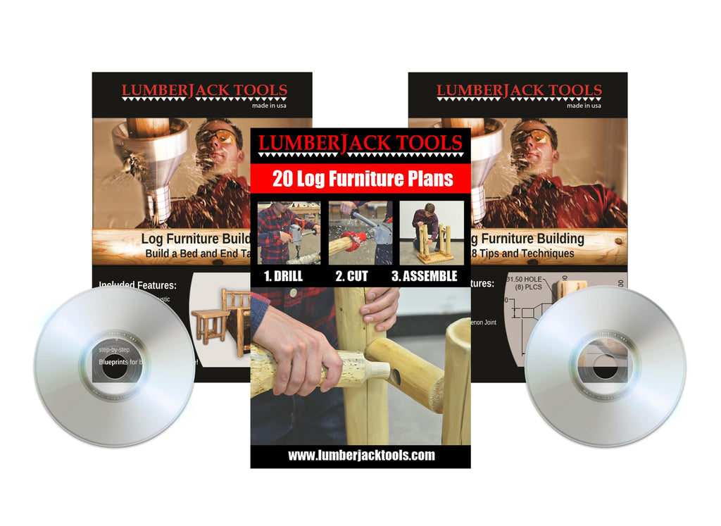 2 Log Furniture Building DVD's and Plan Booklet