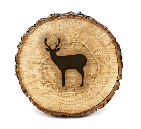 Wood BurnStencil™ - Deer (Side Profile)